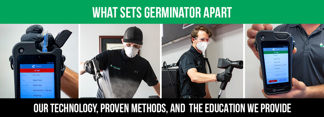 An Image Saying What Sets Germinator Apart Is Our Technology, Proven Methods, and the Education We Provide